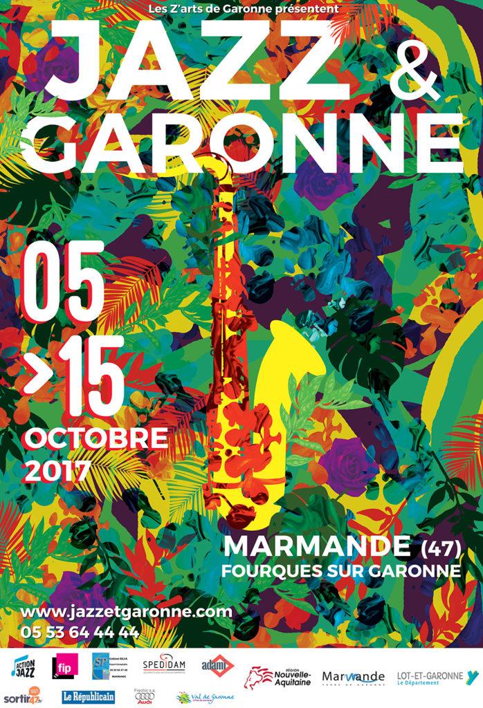Affiche Jazz et Garonne 2017